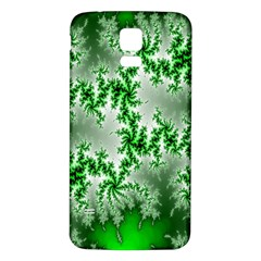 Green Fractal Background Samsung Galaxy S5 Back Case (White)