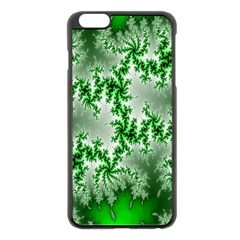 Green Fractal Background Apple iPhone 6 Plus/6S Plus Black Enamel Case
