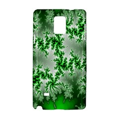 Green Fractal Background Samsung Galaxy Note 4 Hardshell Case