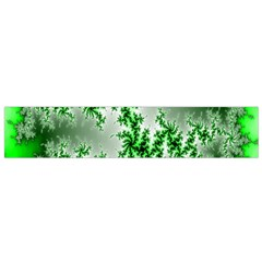 Green Fractal Background Flano Scarf (small)