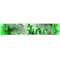 Green Fractal Background Flano Scarf (large)