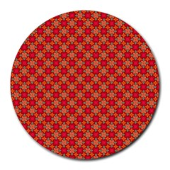 Abstract Seamless Floral Pattern Round Mousepads