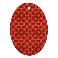Abstract Seamless Floral Pattern Ornament (oval)