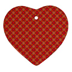 Abstract Seamless Floral Pattern Ornament (heart)