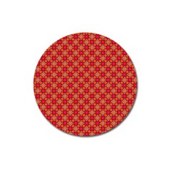Abstract Seamless Floral Pattern Magnet 3  (Round)