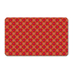 Abstract Seamless Floral Pattern Magnet (Rectangular)