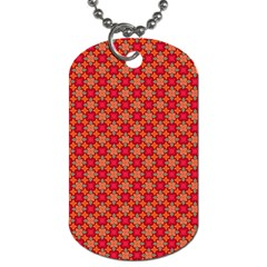 Abstract Seamless Floral Pattern Dog Tag (one Side)
