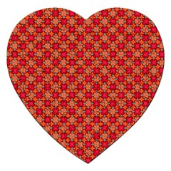 Abstract Seamless Floral Pattern Jigsaw Puzzle (Heart)