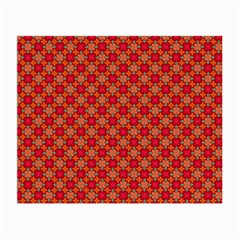 Abstract Seamless Floral Pattern Small Glasses Cloth