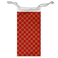 Abstract Seamless Floral Pattern Jewelry Bag