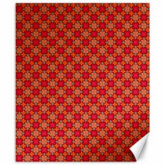 Abstract Seamless Floral Pattern Canvas 8  x 10