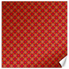 Abstract Seamless Floral Pattern Canvas 16  x 16
