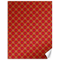 Abstract Seamless Floral Pattern Canvas 18  X 24