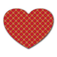 Abstract Seamless Floral Pattern Heart Mousepads