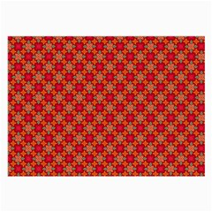 Abstract Seamless Floral Pattern Large Glasses Cloth (2-Side)