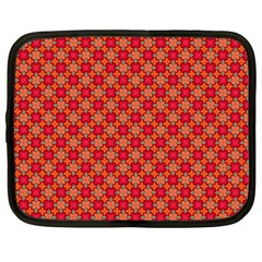 Abstract Seamless Floral Pattern Netbook Case (Large)
