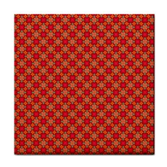 Abstract Seamless Floral Pattern Face Towel