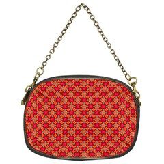 Abstract Seamless Floral Pattern Chain Purses (Two Sides)