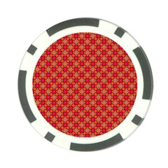 Abstract Seamless Floral Pattern Poker Chip Card Guard (10 pack)
