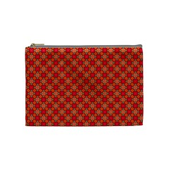Abstract Seamless Floral Pattern Cosmetic Bag (Medium)