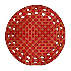 Abstract Seamless Floral Pattern Ornament (Round Filigree)