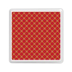 Abstract Seamless Floral Pattern Memory Card Reader (square)