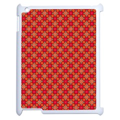 Abstract Seamless Floral Pattern Apple iPad 2 Case (White)