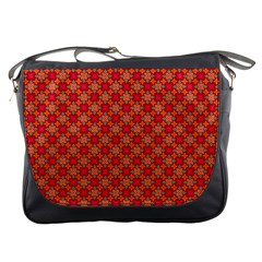 Abstract Seamless Floral Pattern Messenger Bags