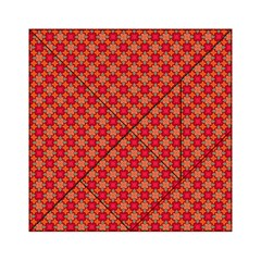 Abstract Seamless Floral Pattern Acrylic Tangram Puzzle (6  x 6 )