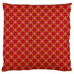 Abstract Seamless Floral Pattern Large Cushion Case (Two Sides)