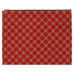 Abstract Seamless Floral Pattern Cosmetic Bag (XXXL)