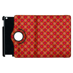 Abstract Seamless Floral Pattern Apple iPad 2 Flip 360 Case