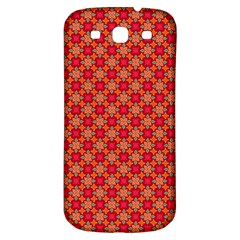 Abstract Seamless Floral Pattern Samsung Galaxy S3 S III Classic Hardshell Back Case