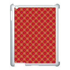 Abstract Seamless Floral Pattern Apple iPad 3/4 Case (White)