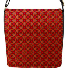 Abstract Seamless Floral Pattern Flap Messenger Bag (S)