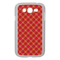 Abstract Seamless Floral Pattern Samsung Galaxy Grand DUOS I9082 Case (White)