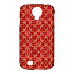 Abstract Seamless Floral Pattern Samsung Galaxy S4 Classic Hardshell Case (PC+Silicone)