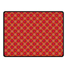 Abstract Seamless Floral Pattern Double Sided Fleece Blanket (Small)