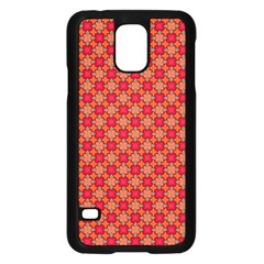 Abstract Seamless Floral Pattern Samsung Galaxy S5 Case (Black)