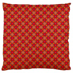 Abstract Seamless Floral Pattern Large Flano Cushion Case (One Side)