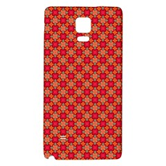 Abstract Seamless Floral Pattern Galaxy Note 4 Back Case