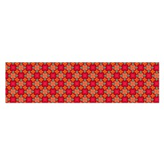 Abstract Seamless Floral Pattern Satin Scarf (Oblong)