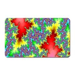 Colored Fractal Background Magnet (Rectangular)