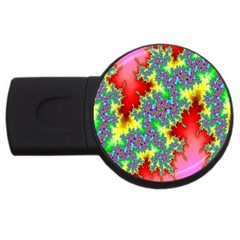 Colored Fractal Background USB Flash Drive Round (2 GB)