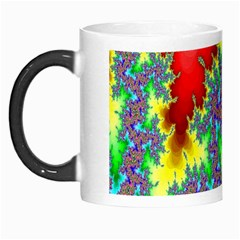 Colored Fractal Background Morph Mugs