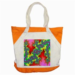 Colored Fractal Background Accent Tote Bag