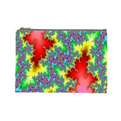 Colored Fractal Background Cosmetic Bag (large)
