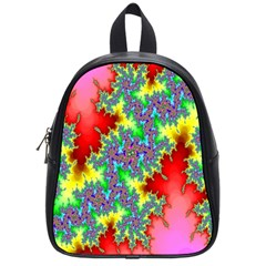 Colored Fractal Background School Bags (small)
