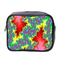 Colored Fractal Background Mini Toiletries Bag 2-Side