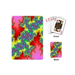 Colored Fractal Background Playing Cards (Mini)